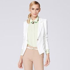 O.SA - Lace-Panel Single-Button Blazer