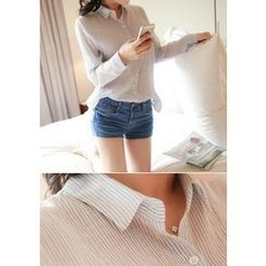 MyFiona - Striped Sheer Shirt