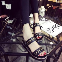 Sunsteps - Chained Platform Sandals