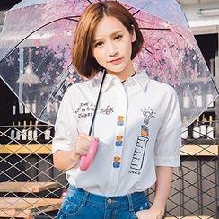 Ashlee - Short-Sleeve Chiffon Shirt