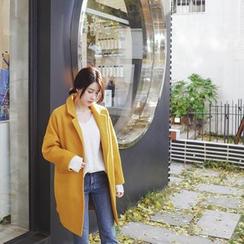 mimi&didi - Single-Breasted Wool Blend Coat