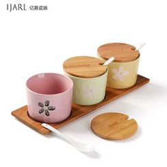 IJARL - Ceramic Condiment Bottle Set
