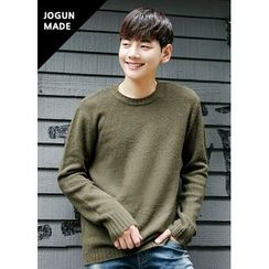 JOGUNSHOP - Crewneck Colored Knit Top