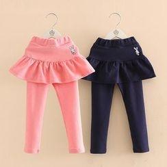Seashells Kids - Kids Inset Skirt Leggings