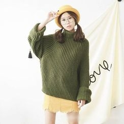 Polaris - High Neck Thick Sweater