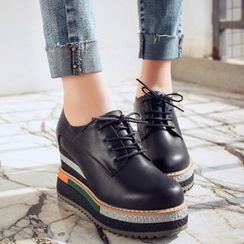 JY Shoes - Platform Lace Ups