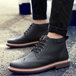 NOVO - Lace-Up Brogue Ankle Boots