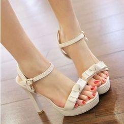 Freesia - Bow High Heel Sandals