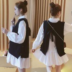 Munai - Tie-Back Slit-Back Knit Vest