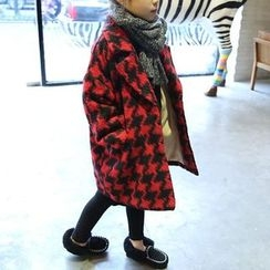 Spring Swallow - Kids Houndstooth Coat