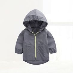 ciciibear - Kids Letter Hooded Jacket