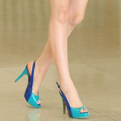 59th Street - Peep-Toe Slingback Pumps