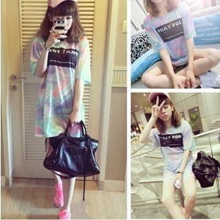 QZ Lady - Short-Sleeve Multicolored Print T-Shirt