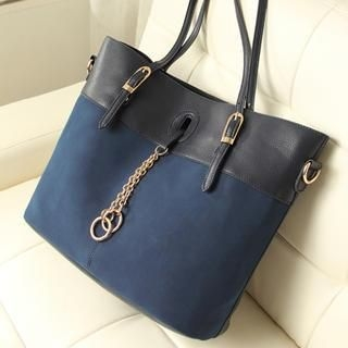 Miss Sweety - Chain-Accent Buckled Tote