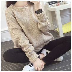 Angel Shine - Loose-Fit Knit Sweater