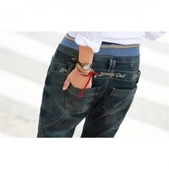 PEPER - Washed Straight-Cut Jeans