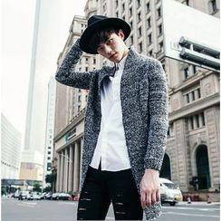 XINNI - 羊毛混紡長款針織開衫
