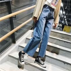 Chililala - Color Panel Wide Leg Jeans
