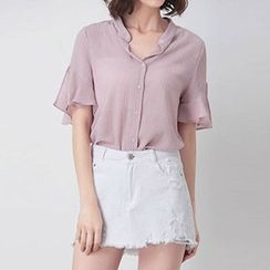 Nimill - Short Sleeve Chiffon Shirt