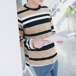 Danjieshi - Striped Long-Sleeve T-Shirt