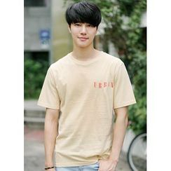 JOGUNSHOP - Short-Sleeve Lettering T-Shirt