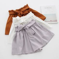 Meimei - Plain Wide Leg Shorts
