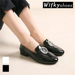 Wifky - Metal Detail Patent Loafers