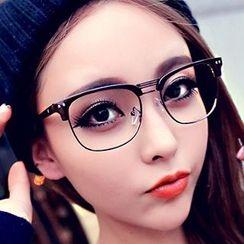 FaceFrame - Retro Half Rim Glasses