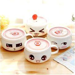 Good Living - Printed Ceramic Bowl