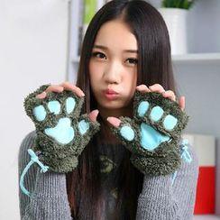 Fun House - Cat Paw Fingerless Gloves
