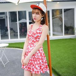 Goldlyre - Sleeveless Printed Swim Dress