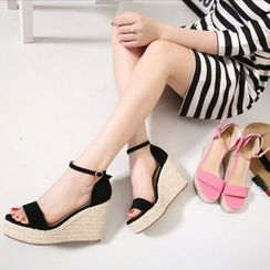 Anran - Ankle Strap Wedge Sandals