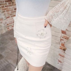 Babi n Pumkin - Faux-Pearl Detail Skirt