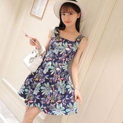 Maine - Sleeveless Floral A-Line Dress