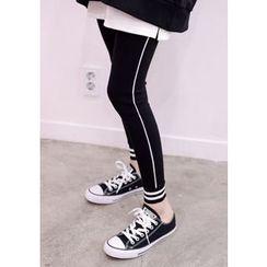 DEEPNY - Contrast-Trim Leggings