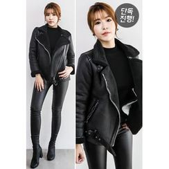 INSTYLEFIT - Faux-Shearling Rider Jacket