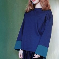 QZ Lady - Panel Mock-neck Top