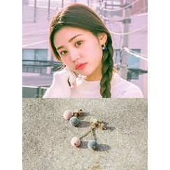 icecream12 - Non-Matching Pompom Earrings