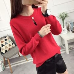 anzoveve - Keyhole Front Sweater