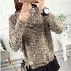 anzoveve - Slit Side Thick Sweater