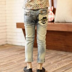 Lullaby - Kids Washed Cropped Jeans