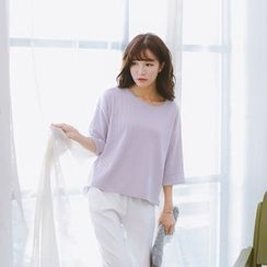 Ranche - 3/4-Sleeve Knit Top