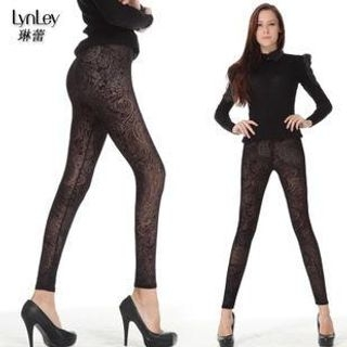 Lynley - Floral See Through Leggings