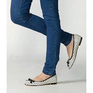 yeswalker - Bow-Accent Dotted Flats
