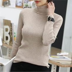 CHICFOX - Turtle-Neck Knit Top