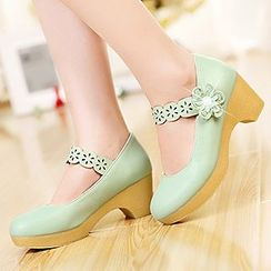 Sidewalk - Corsage Mary Jane Platform Pumps