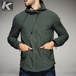 Quincy King - Hooded Plain  Windbreaker