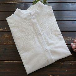 YOYO - 長袖通花蕾絲襯衫