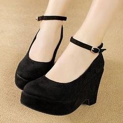 Mancienne - Ankle-Strap Wedges
