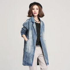Jiuni - Washed Long Blazer